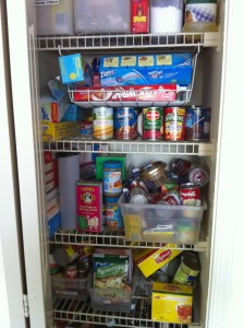 woefully inadequate pantry