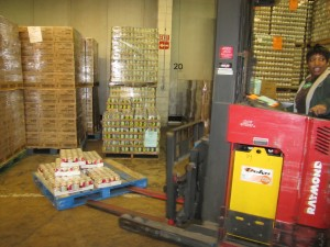 Capital Area Food Bank warehouse - forklift