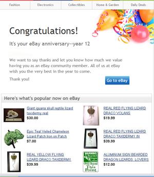 ebay anniversary greeting