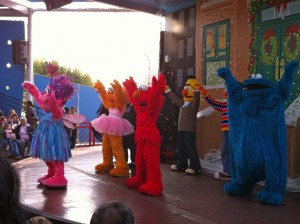 Nothing like Sesame Street characters doing jazz hands!