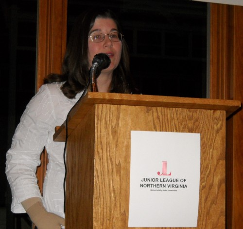 March 6, 2010 Dr. Susan Niebur presenting at the Junior League of Northern Virginia's STEM Awareness Day