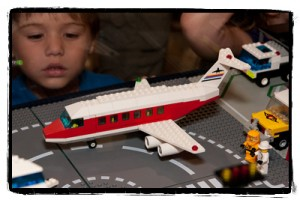 Children visiting the airport diorama at last year's BrickFair. Photo courtesy of Abe Friedman, provided by BrickFair.