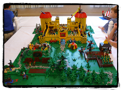 Intricate castle creation at BrickFair.