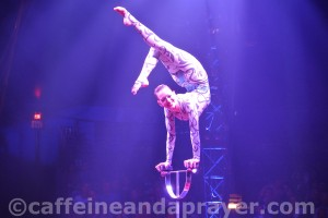 Big Apple Circus contortionist Elayne Kramer.