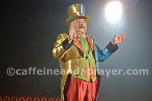 "Ringmaster John Kennedy Kane keeps the show moving with stories of circus ""Legendarium."""