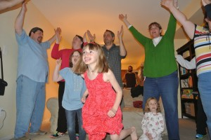 Oh sure, the kids are dancing, but notice who is REALLY into it.  Yep... the adults!