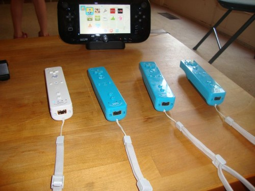 Nintendo Wii U GamePad and Wii Motion remotes