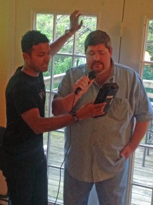My friend J. wowed the crowd by crooning a classic Monkees song.