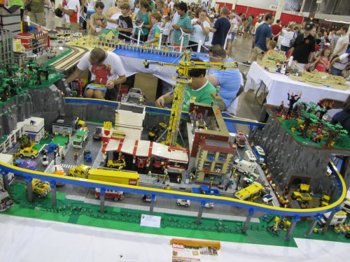Last year's BrickFair exhibits included a working train.