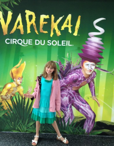 JavaGirl poses before seeing Varekai.
